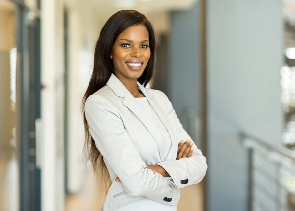 MBA in human resources female student smiling