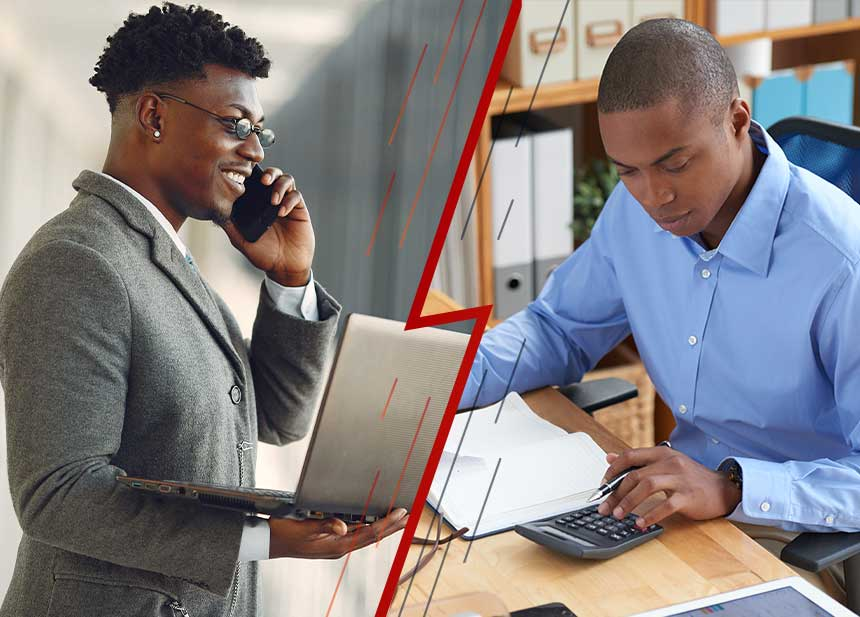 What is The Difference Between Accounting And Finance? male student working