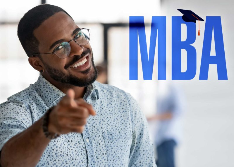 What is an MBA in HR? male student smiling